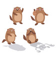 groundhog set 2 flat vector image