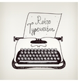 hand drawn doodle retro black ans white typewriter vector image