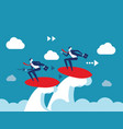 holiday business team play surfing concept vector image