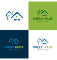 houses and roofs logo and icon vector image vector image