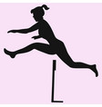 hurdler in a jump vector image