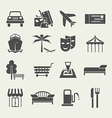 Icons vacation and travel in a flat style vector image vector image