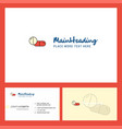 medicine logo design with tagline front and back vector image vector image