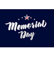 memorial day stars banner vector image vector image