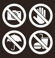 no camera do not touch umbrella not allowed vector image vector image