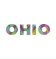 ohio concept retro colorful word art vector image