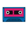 old cassette media pop art colors vector image vector image