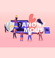 online anonymous concept tiny characters at huge vector image vector image