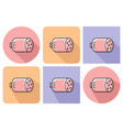 outlined icon boiled sausage with parallel and vector image vector image