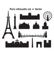 paris skyline silhouette 9 vector image