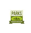 park landscaping label for landscape design vector image vector image