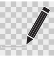 Pen Icon on transparent background vector image vector image