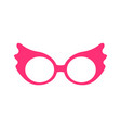 princess party pink glasses vector image vector image