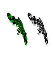 rakhine state administrative divisions myanmar vector image vector image