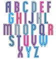 Retro style triple stripes font vector image vector image