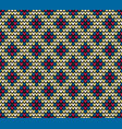 seamless color rhombus knitting pattern vector image vector image