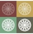 set circular linear icons monograms emblems vector image