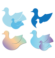Set of birds for logo vector image