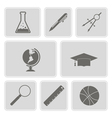 set with school icons vector image