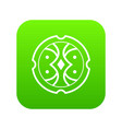 shield icon digital green vector image vector image