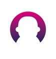 silhouette avatar user social profile person vector image