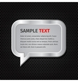 Silver speech bubbles for message on dark vector image vector image
