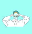 skincare face mask anti-aging care concept