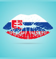 slovakia flag lipstick on the lips isolated on a vector image vector image