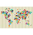 Social media bubbles globe world map vector image vector image