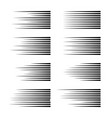 speed lines isolated set of motion signs vector image
