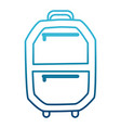 suitcase isolated symbol vector image vector image