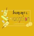 summer menu banner vector image vector image