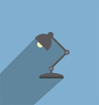 Table Lamp Flat Design Style Icon vector image vector image