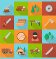 timber industry set vector image vector image