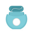 tooth floss icon flat style vector image