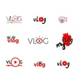 Vlog or video vector image