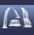 waterfall water flow cascade vector image vector image