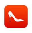 women shoe with high heels icon digital red vector image vector image