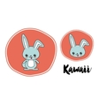 rabbit character kawaii style isolated icon design vector image