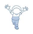 cartoon cute african boy cheerful image vector image