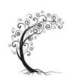 silhouette tree vector image