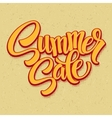 Summer sale Retro pop art style vector image