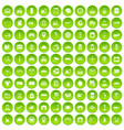 100 loader icons set green circle vector image vector image