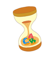 A sand clock is placed vector image vector image