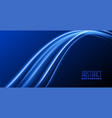 abstract blue background with glowing light wave vector image