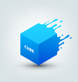 abstract colored 3d cube vector image vector image