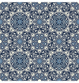 Arabesque seamless pattern in blue vector image vector image