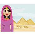 Arabian woman in the desert vector image vector image