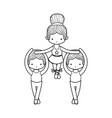 ballet dancers design vector image vector image