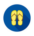 beach slops icon flip flops symbol vector image